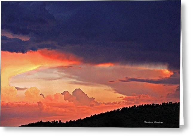 Mazatzal Peak Sunset Greeting Card