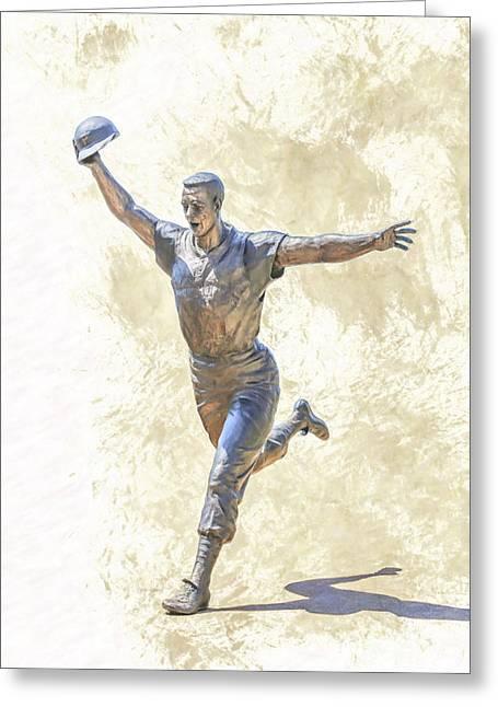 Mazeroski Statue Pnc Park Pittsburgh Greeting Card
