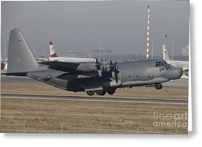 Mc-130h Combat Talon II Of The U.s. Air Greeting Card by Timm Ziegenthaler