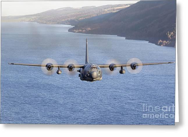 Mc-130h Combat Talon II Over Loch Ness Greeting Card by Gert Kromhout