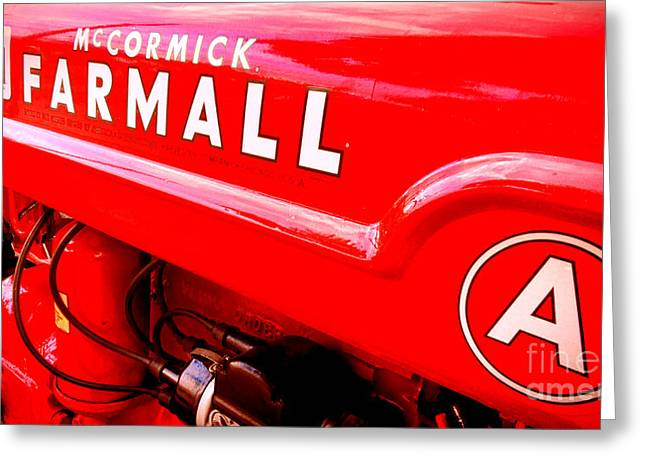 Mccormick Farmall A Greeting Card by Olivier Le Queinec