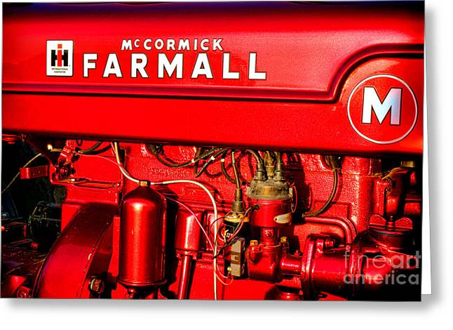 Mc Cormick Farmall M Greeting Card by Olivier Le Queinec