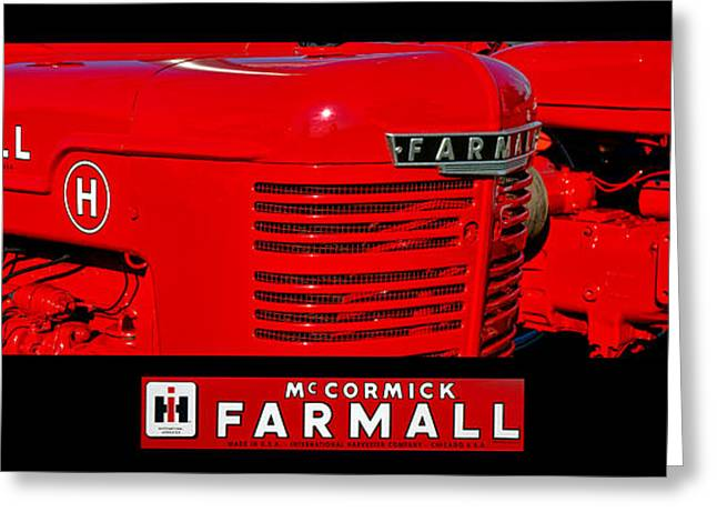 Mc Cormick Farmall Poster Greeting Card by Olivier Le Queinec