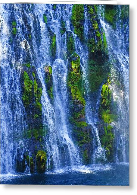 Greeting Card featuring the photograph Mcarthur-burney Falls by Sherri Meyer