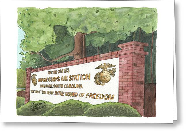 Mcas Beaufort Welcome Greeting Card