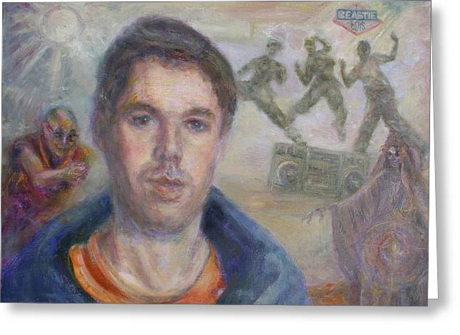 Mca's My Ace - Adam Yauch Tribute Painting Greeting Card by Quin Sweetman