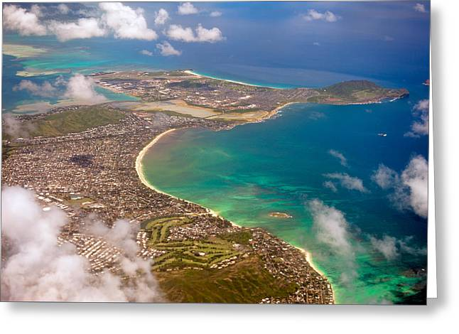 Greeting Card featuring the photograph Mcbh Aerial View by Dan McManus
