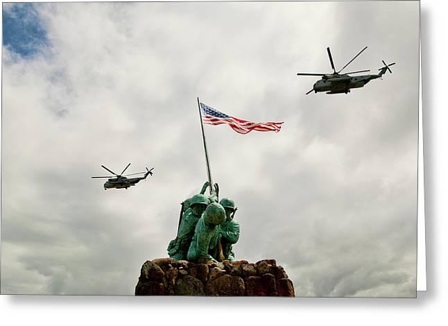 Mcbh Remembers Iwo Jima Greeting Card by Dan McManus
