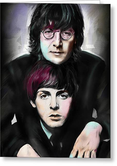 Mccartney And Lennon Greeting Card