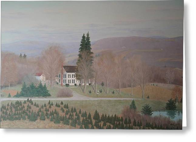 Mccarty Farm House Greeting Card by Joseph Stevenson