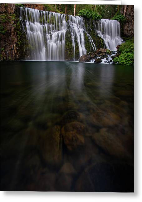 Greeting Card featuring the photograph Mccloud Falls by Dustin LeFevre