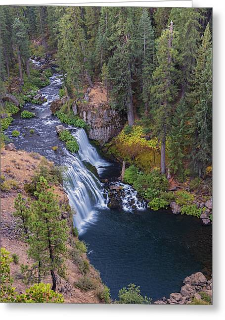 Mccloud River And Middle Falls Greeting Card