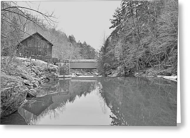 Greeting Card featuring the photograph Mcconnells Mill In Late March by Digital Photographic Arts