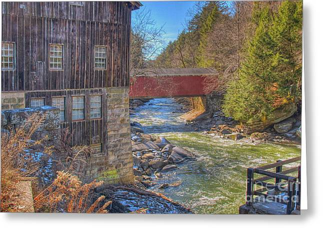 Mcconnells Mill Winter  Greeting Card