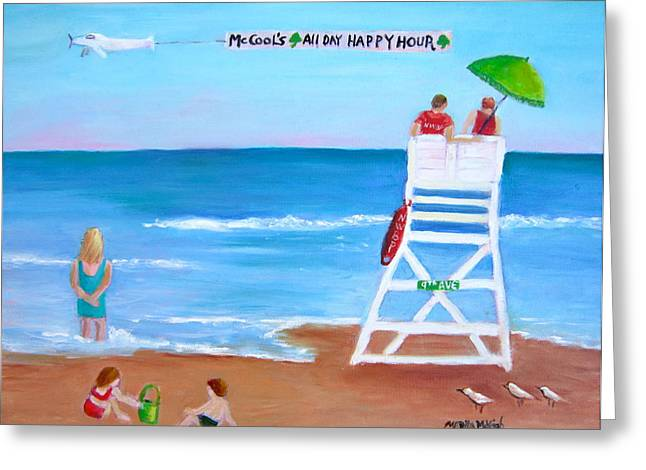 Mccool's All Day Happy Hour Greeting Card by Marita McVeigh