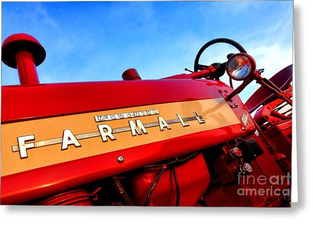 Mccormick Farmall 450 Greeting Card by Olivier Le Queinec