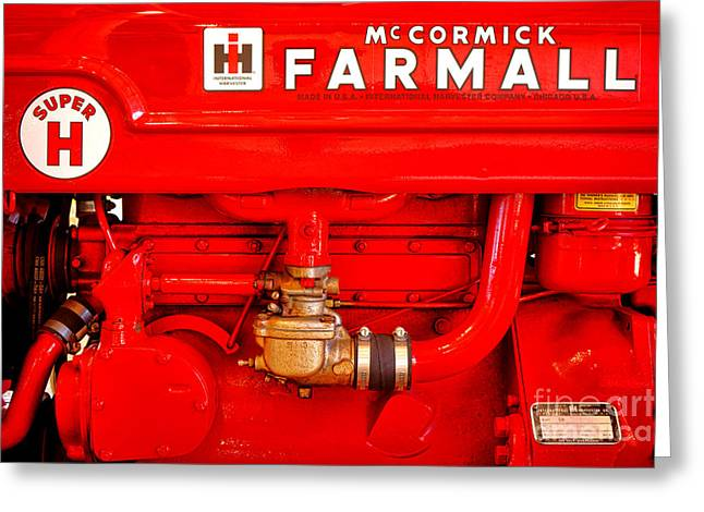 Mccormick Farmall Super H Greeting Card by Olivier Le Queinec