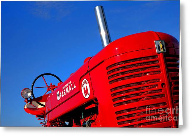 Mccormick Farmall Super M Greeting Card by Olivier Le Queinec