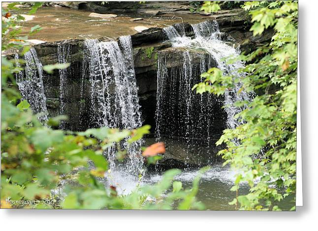 Mccoy Falls From The Road Greeting Card by Carolyn Postelwait