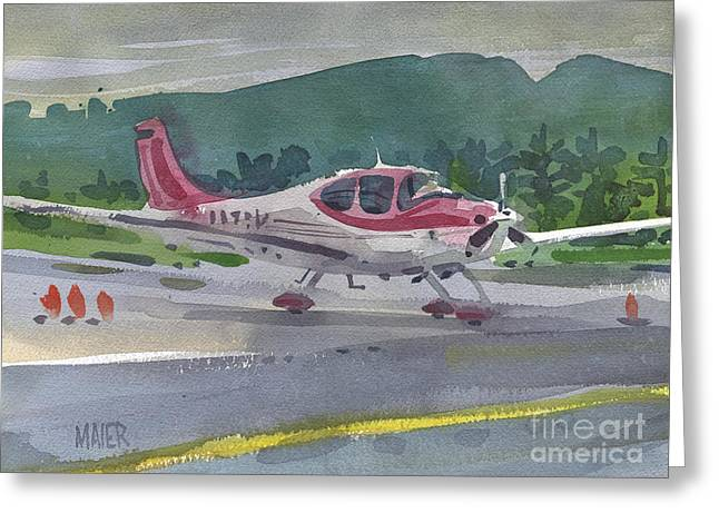 Mccullum Airport Greeting Card by Donald Maier