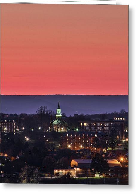 Greeting Card featuring the photograph Mcdaniel At Sunset by Mark Dodd