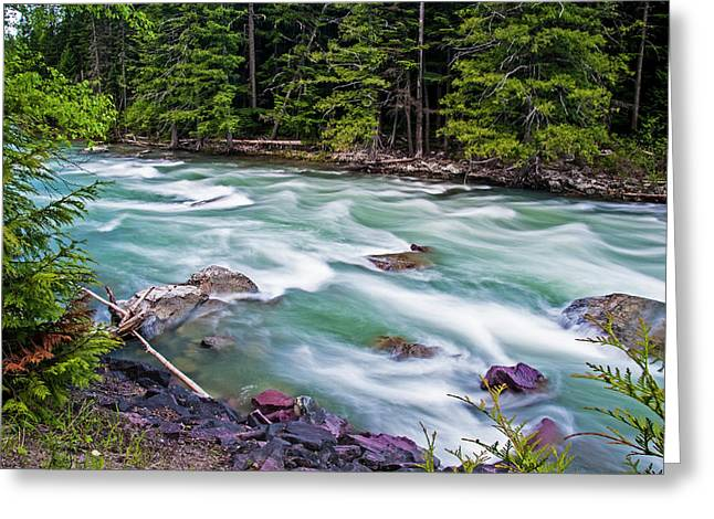 Greeting Card featuring the photograph Mcdonald Creek by Gary Lengyel