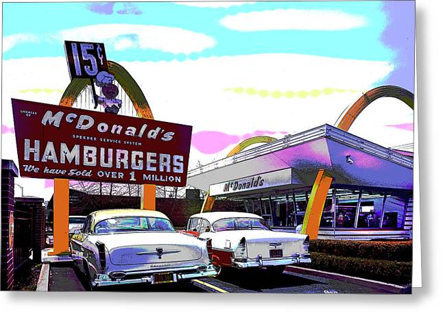 Mcdonald's Chicago Greeting Card by Charles Shoup