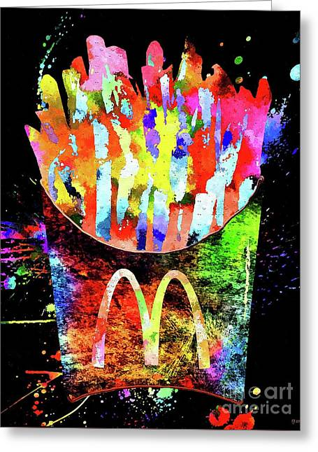 Mcdonald's French Fries Grunge Greeting Card