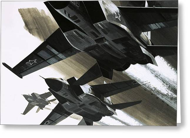 Mcdonnell Douglas F15 Eagle Jet Fighter Greeting Card by Wilf Hardy