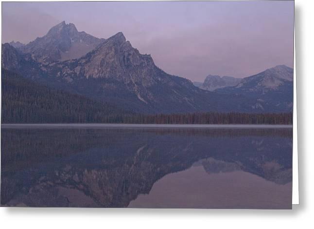 Mcgowen Peak At Sunrise Greeting Card by John Higby