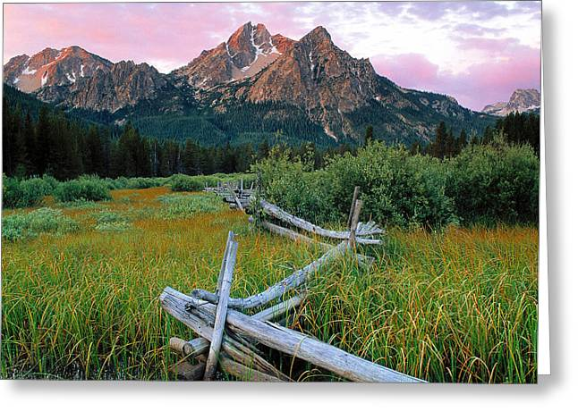 Mcgown Peak 2 Greeting Card by Leland D Howard