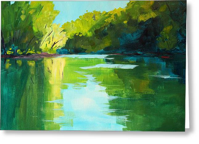 Mckenzie River Greeting Card by Nancy Merkle