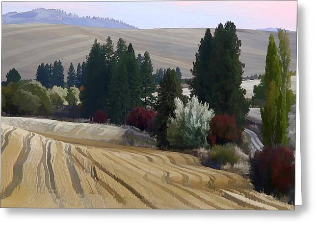 Mckenzie Road In The Palouse Greeting Card by Jerry McCollum
