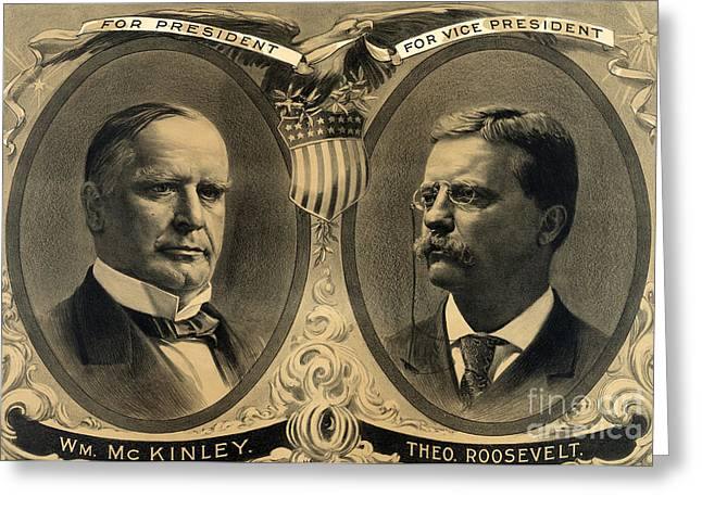 Mckinley-roosevelt Campaign Poster, 1900 Greeting Card by Science Source