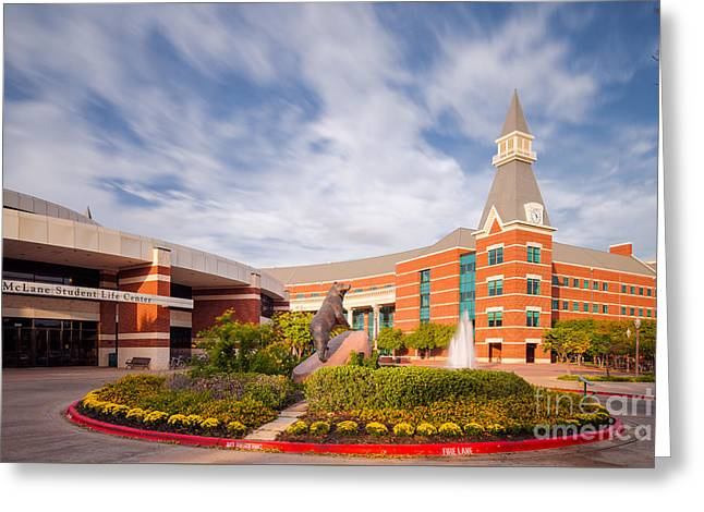 Mclane Student Life Center And Sciences Building - Baylor University - Waco Texas Greeting Card