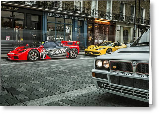Mclaren F1 Gtr With Speciale And Integrale  Greeting Card