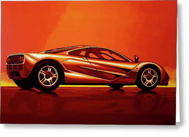 Mclaren F1 1994 Painting Greeting Card