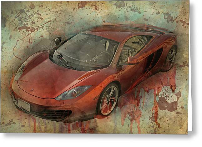 Greeting Card featuring the photograph Mclaren Graffiti by Joel Witmeyer