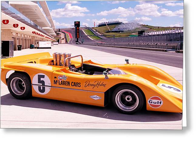 Mclaren M8a Greeting Card by Peter Chilelli