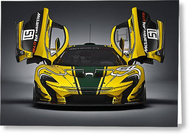 Mclaren P1 Gtr Greeting Card