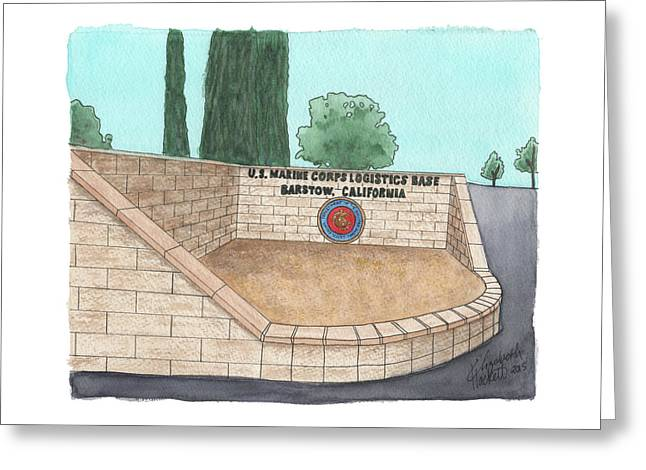 Mclb Barstow Welcome Greeting Card