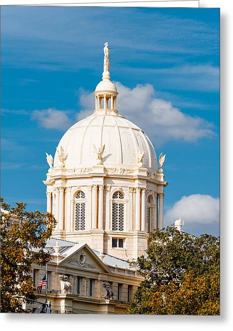 Mclennan County Courthouse Dome By J. Reily Gordon - Waco Central Texas Greeting Card