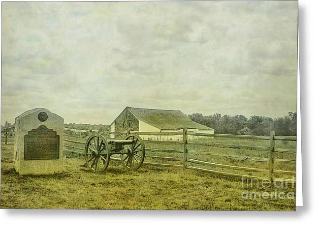 Mcpherson Barn And Cannon Gettysburg  Greeting Card