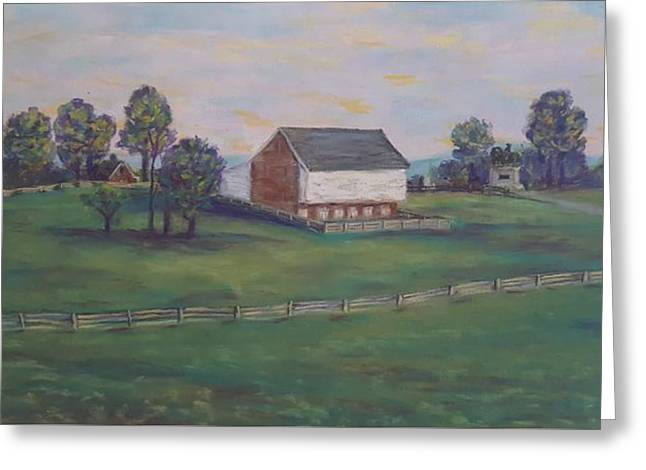 Mcphersons Barn Gettysburg Greeting Card by Joann Renner