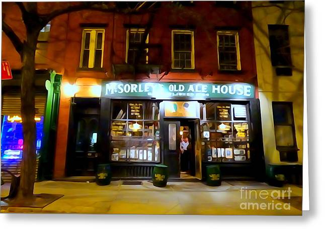 Mcsorleys At Night Greeting Card