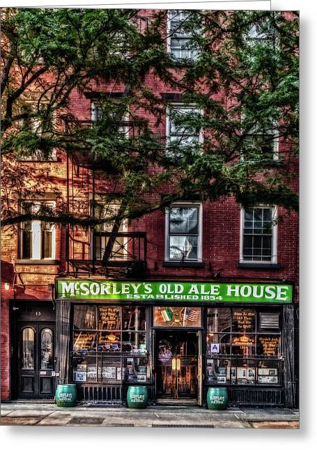 Greeting Card featuring the photograph Mcsorley's Old Ale House Nyc by Susan Candelario