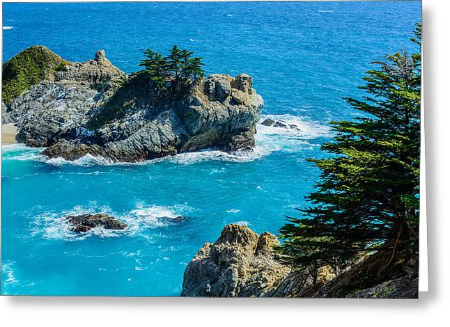 Big Sur Greeting Cards - McWay Cove Greeting Card by Cristi Canepa