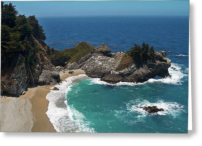 Mcway Falls In Big Sur Greeting Card