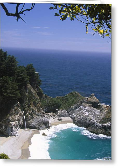 Mcway Falls - Julia Pfeiffer Burns State Park Greeting Card by Soli Deo Gloria Wilderness And Wildlife Photography