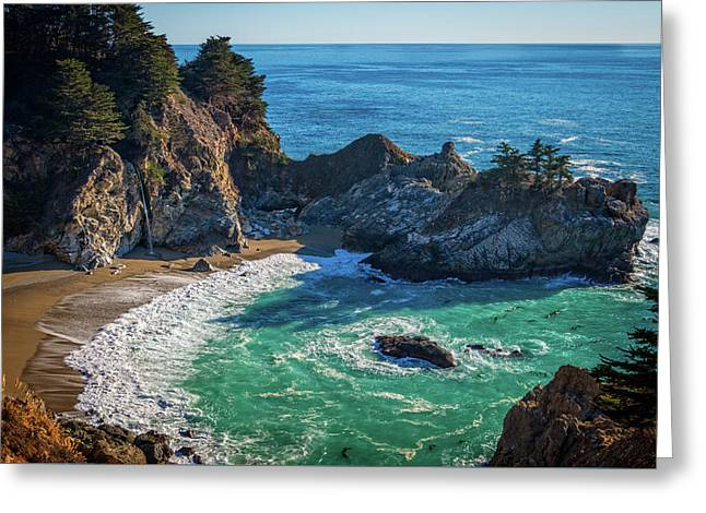 Mcway Falls Julia Pfieffer State Park Greeting Card by James Hammond